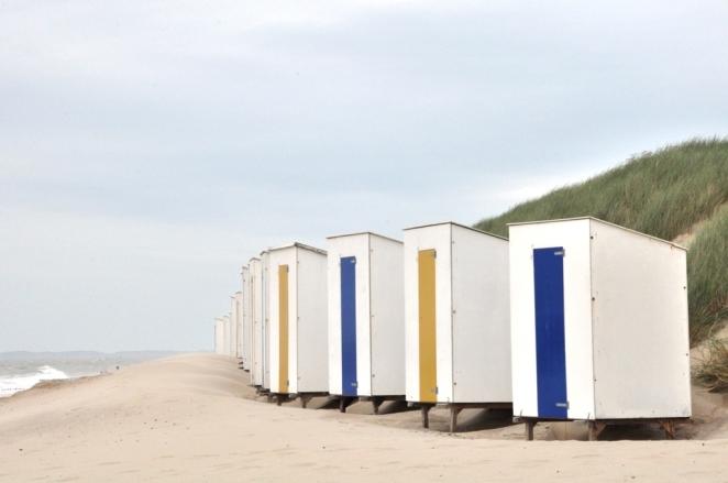 Badhus på strand